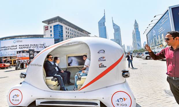 3D Printed Autonomous Green Car made in the UAE