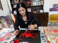 How a young woman is helping Palestinian artists