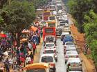 Traffic during the evening rush hour on in Nairobi. The founders of Magic Bus have anopportunity to revolutionise how he and his fellow Nairobians get from point A to point B.