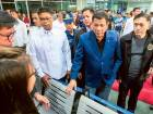 Philippine President Rodrigo Duterte walks through the terminal at the Davao International Airport after arriving back from a state visit to Brunei and China. Philippine President Rodrigo Duterte said on October 22 he would not sever his nation's alliance with the United States, as he clarified his announcement that he planned to 'separate'.