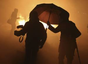 Tear gas used to disperse Calais residents