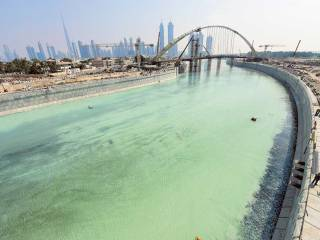 Water released in Dubai Canal