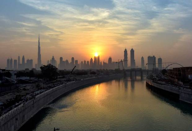 In Pictures: Water released into Dubai Canal