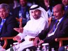 UAE energy minister Suhail Mohammad Faraj Al Mazrouiwith Osheik Mohammad Taher, Sudan's mineral's ministerand Mohammad Humayon Qayoumi, chief adviser to thePresident of Afghanistan, at the mining summit on Tuesday.