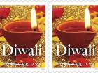 The Diwali stamp, which is currently available in the US.