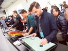 Journalists and Microsoft fans get a look at the new Microsoft Surface Studio introduced at a Microsoft news conference on Wednesday in New York.