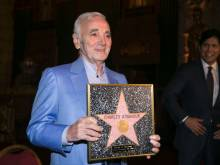 Charles Aznavour gets honorary Hollywood Star