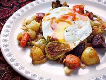 Healthy recipe: Roasted vegetable hash and eggs