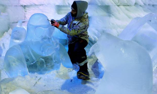 Images: Snow & Ice Sculpture Festival in Hasselt