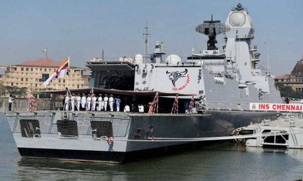 India's new warship 'INS Chennai' commissioned