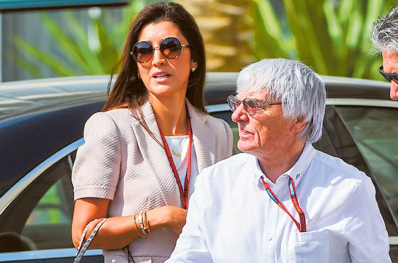 f1-supremo-bernie-ecclestone-with-his-wife-fabiana-flosi-arrive-at-the-paddock-in-abu-dhab
