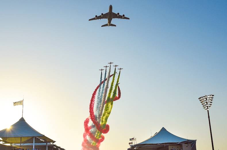 etihad-and-al-fursan-aerobatic-team-perform-the-fly-past-before-the-start-of-the-abu-dhabi-grand-pri