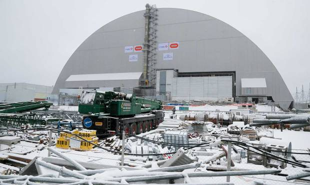 Safety dome placed over Chernobyl disaster site
