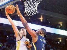 Thompson blasts for 60 as Warriors rout Pacers