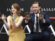 Emma Stone, Ryan Gosling immortalised in cement