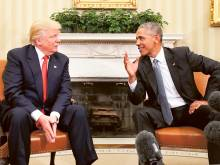 Obama and Trump now trade pleasantries
