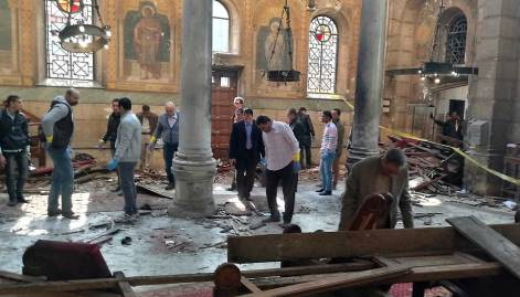 Death toll rises in Cairo cathedral blast