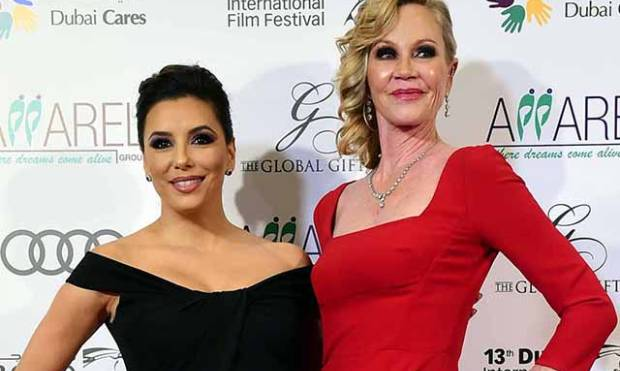 Eva Longoria, Melanie Griffith at Global Gift Gala in Dubai
