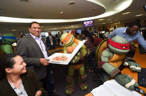 Ninja turtles take over Gulf News office