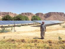 Solar power pumps life into Yemeni farms