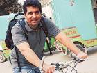 CEO beats traffic using google maps and bike