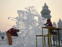 China hosts snow and ice sculpture festival