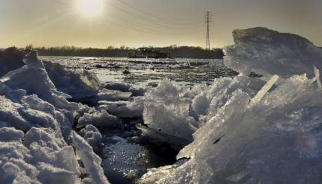River Danube freezes as temperature plunges
