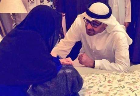 Mohammad Bin Zayed consoles martyr's mum