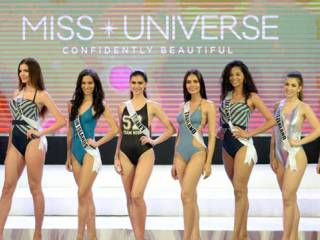 Miss Universe beauties show off swimwear