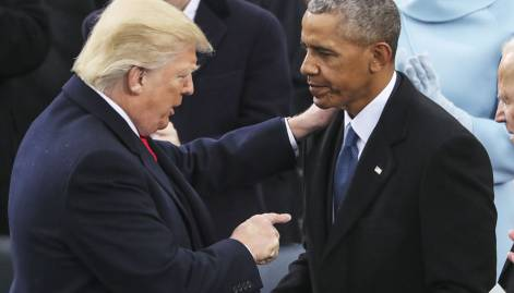 Pictures: Trump sworn in as US president