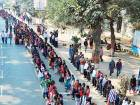 Bihar human chain takes stand against alcoholism