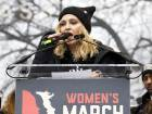 Madonna speaks to the crowd during the women's march in Washington