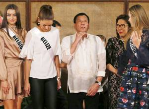Look: Beauties visit Duterte's palace in Manila