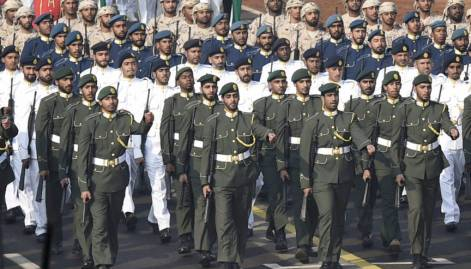 UAE troops join R-Day parade rehearsal