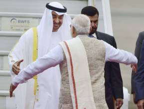 Shaikh Mohammad on a three-day India visit