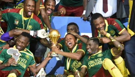 Pics: Cameroon beat Egypt to snatch Africa Cup