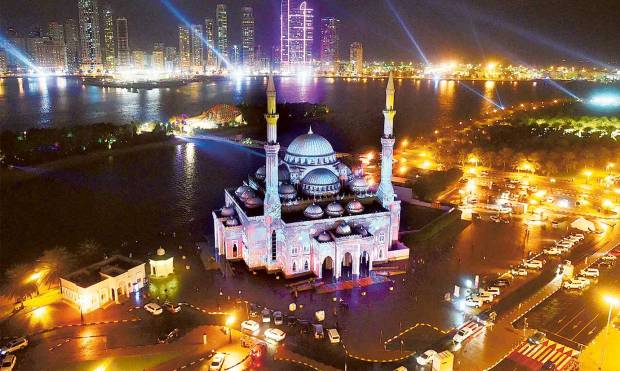 In pictures: Sharjah Light Festival