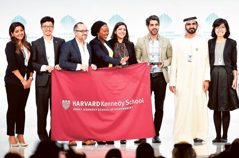 shaikh-mohammad-presents-global-universities-challenge-award-to-harvard-kennedy-school-of-government