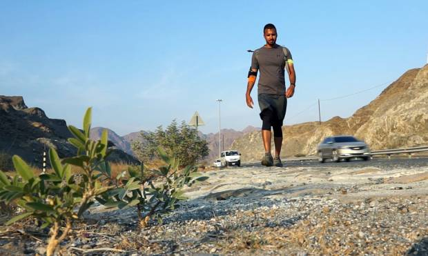 Watch: Emirati crosses the UAE on foot