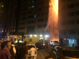 Tower fire started in restaurant kitchen