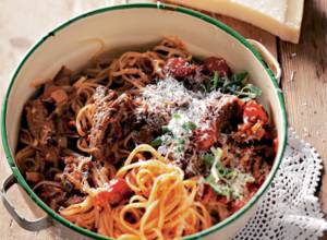 Recipe: Pasta with lamb