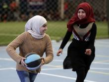 In Lebanon gyms, playtime for Syrian children
