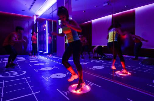Sweating it out in the dark with Prama fitness