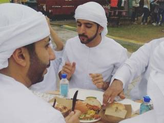 Shaikh Hamdan spotted eating 24k gold burger
