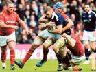 Scotland's John Barclay is tackled during the Six Nations match against Wales at BT Murrayfield, Edinburgh on Saturday. Scotland won 29-13.