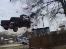 Watch: Truck takes off after high-speed chase