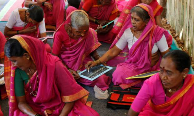 Inside a grandmothers' school in India