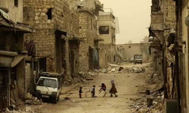 In war-gutted Aleppo, life goes on