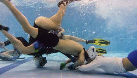Underwater hockey makes splash in Hong Kong
