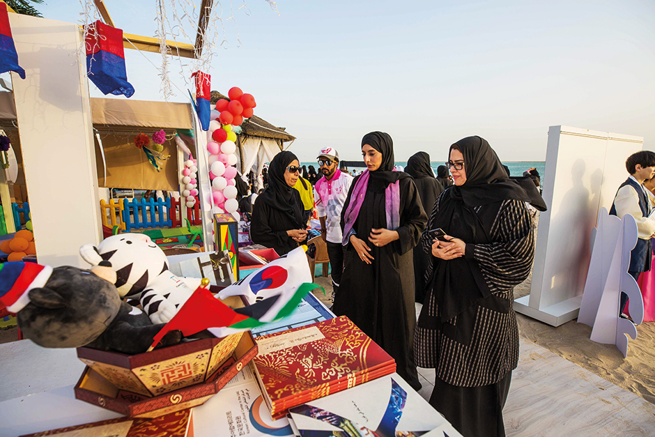 The Pink Caravan stall at the ongoing Mother of Giving Festival in Abu Dhabi